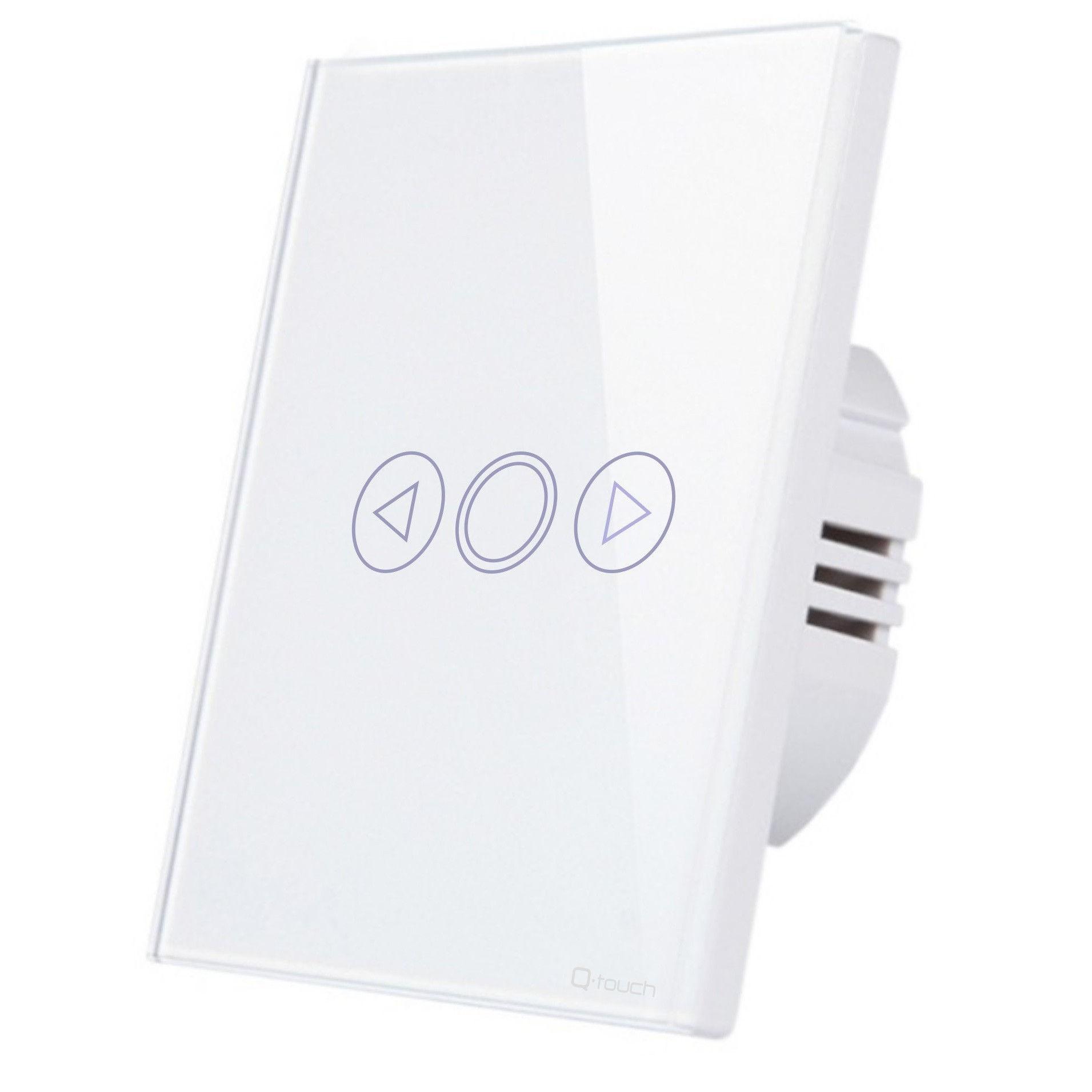 Glas Touch Lichtschalter Einschalter Ausschalter Fernbedienung LED Weiß 230V